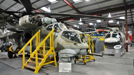 Helicopter Museum interior.