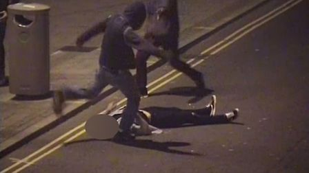 Samuel Banks repeatedly kicked and stamped at his defenceless victim. Picture: Avon and Somerset Co