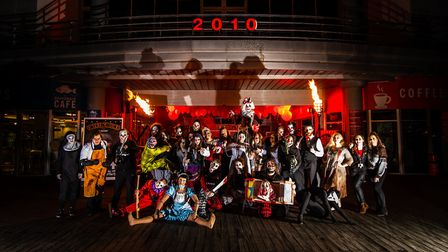 Around 30 actors performed at the Grand Piers Halloween Unfairground. Picture: Weston Grand Pier
