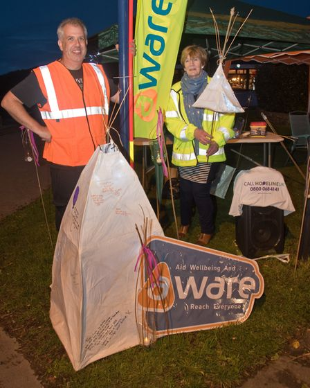 Hopewalk around Portishead Lake Grounds by AWARE to promote mental health and wellbeing. Picture: