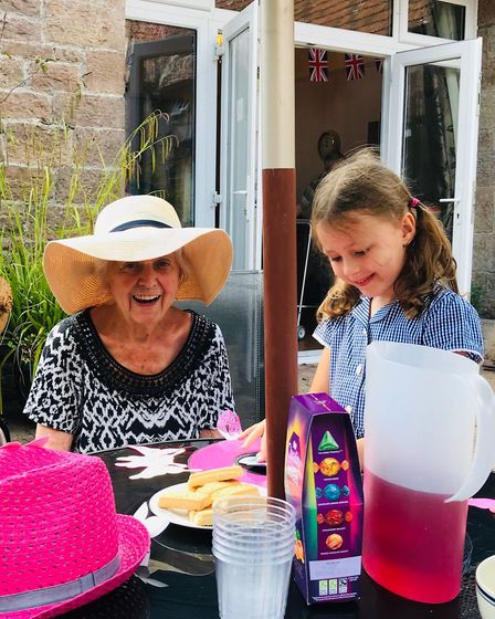 Children enjoy arts and crafts and sing songs with the residents.