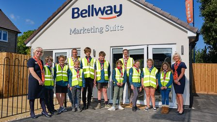 Bellway has donated high-vis vests to 1st Banwell Scouts.