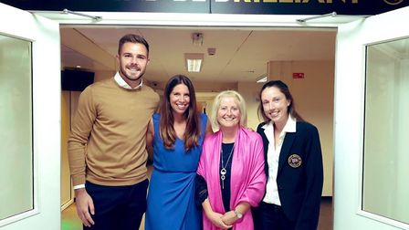 Jack Butland and Kate Reed returned to Clevedon School.