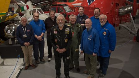 Elfan ap Rees and his team at Weston Helicopter museum open cockpit day marking the 30th anniversary