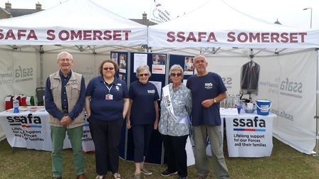 SSAFA volunteers manning stalls at Weston Armed Forces Day.
