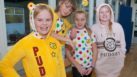 Children in Need mufti day at Court de Wyck Prmary School in Claverham. Picture: MARK ATHERTON