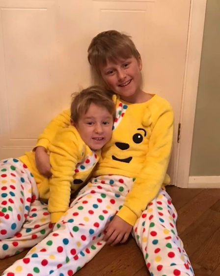 It has been a day for spotty pyjamas. Picture: Kate Frankcom