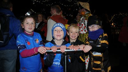 Young rugby players were tasked with switching the lights on last year.