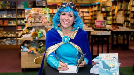 Author of Seb and Polly Planet Michelle Cassar at Westons Waterstones.Picture: Sally Low