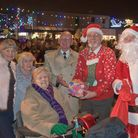 Hosts and guests at Portishead Christmas light switch-on last year. Picture: MARK ATHERTON