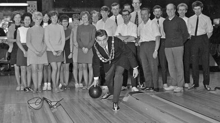 The Mayor of Weston's Christmas Fund will benefit by about £50 donated by bowlers and guests of the