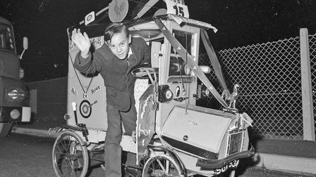 Michael Ganfield in his pedal car at Weston's Winter Carnival. Picture: WESTON MERCURY