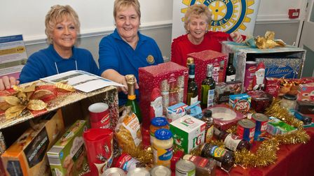 West Woodspring Inner Wheel at Weston Rotary Club Christmas fair. Picture: MARK ATHERTON