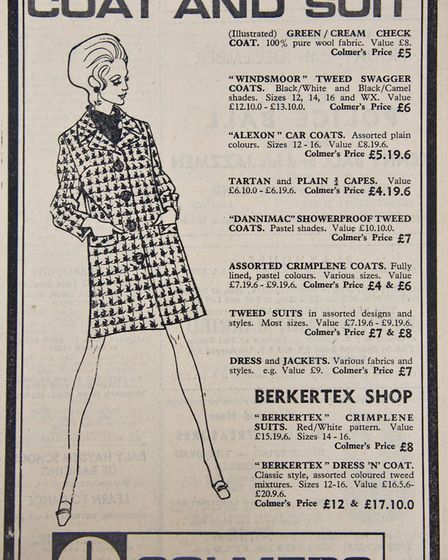 Ads 14th November 1969 Edition. Picture: WESTON MERCURY