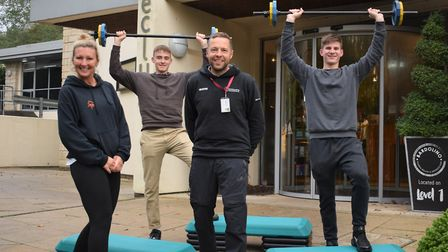 Health club and spa donates sports equipment to North Somerset school