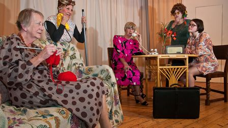 A scene from 'The Peaceful Days', one of two one act plays being performed by Banwell Amateur Dramat