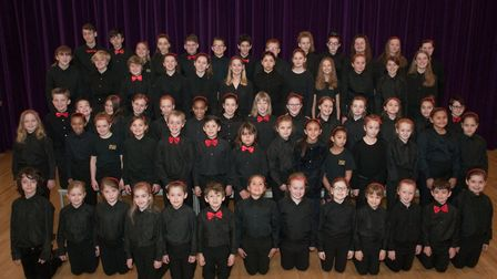 Pauline Quirke Academy of performing arts rehearsing for their latest show. Picture: MARK ATHE