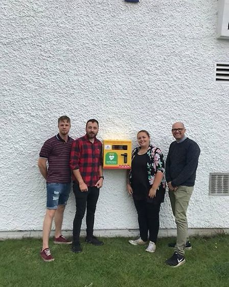 A defibrillator has been installed at St Marks Church. Picture: Josie Howard