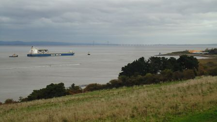 Grey skies cover Portishead.Picture: Nick Page Hayman