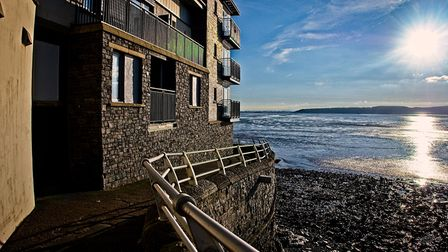 Sun shines on Weston apartments overlooking the beach.Picture: Derek Hitchins