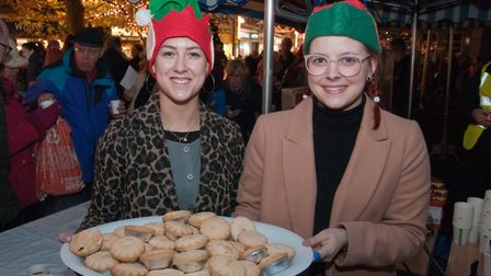 Mince pies and mulled wine at the Weston Christmas lights switch on at the Italian Gardens in High S