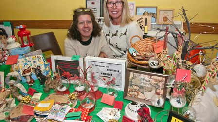 Mandy and Caroline from 'One of a Kind' at St Georges Christmas fete. Picture: MARK ATHERTON