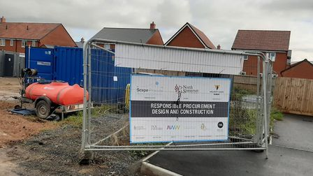Building work has begun at Chestnut Park Primary School. Picture: CLT