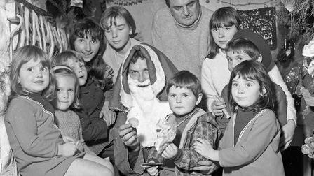 Father Christmas was a centre of attraction at the toy fayre held at Hutton schoolroom by the local