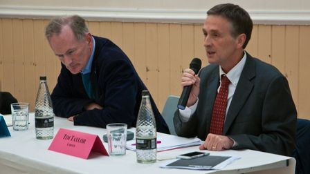 John Penrose (Conservatives) and Tim Taylor (Labour). Picture: MARK ATHERTON