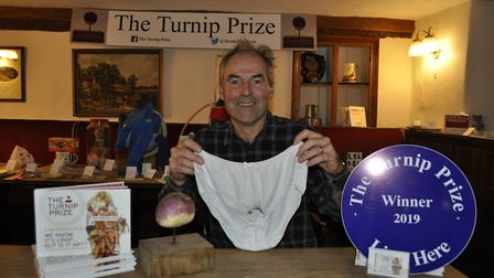Fanny and his winning pair of knickers