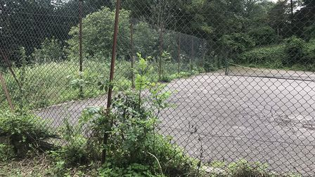 Tennis court in Ashcombe park has been neglected