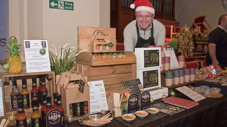 Ben Ford with Parva Spices at eat:Burnham Xmas market.Picture: MARK ATHERTON