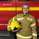 Jade Alexander is the first female firefighter to join the Portishead service in its history.Picture