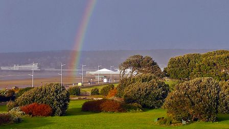 A rainbow spotted from a Royal Sands' balcony. Picture: Terry Kelly