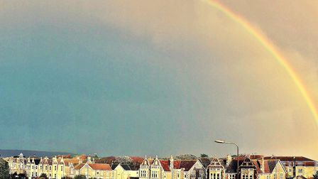 A colourful rainbow covers Weston. Picture: Terry Kelly