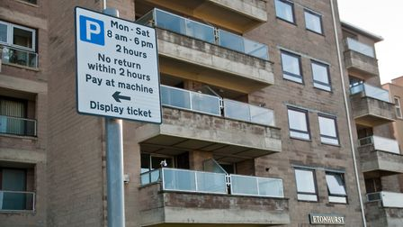 Residents of Etonhurst flats have petitioned council to improving parking by their building. Pict