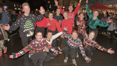 Students from The Jayne Elizabeth Stage School at Worle Christmas fair last year. Picture: MARK A