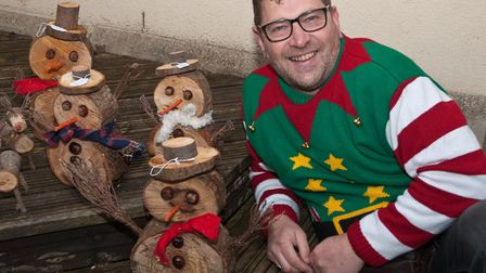 Mark Nute and his Wooden Wonders at Hutton School Christmas Fete. Picture: MARK ATHERTON