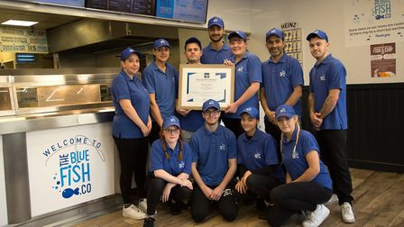 Blue Fish Co has just won the 2020 regional Good Food Award for Fish and Chips, thanks to its custom
