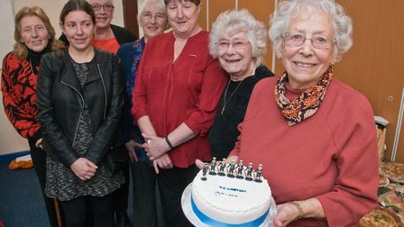 Weston Sea Cadet HQ, Celebration party for Grace Monk, committee member for 70 years. Picture: MA