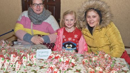 Congresbury Rainbows at the Broad Street Christmas Fair. Picture: MARK ATHERTON