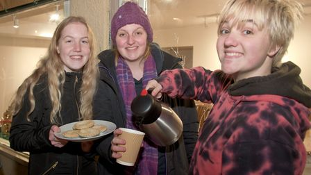 Congresbury Guides at the Broad Street Christmas Fair. Picture: MARK ATHERTON