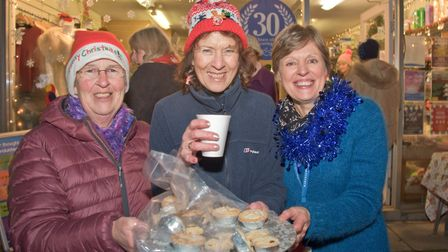 Hospicecare mince pies at Congresbury Broad Street Christmas Fair. Picture: MARK ATHERTON