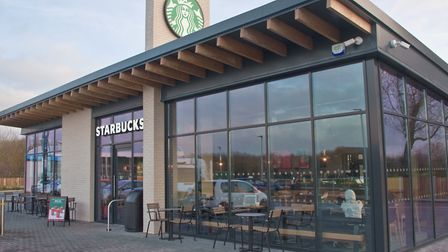 New Starbucks drive thru at Airport Roundabout. Picture: MARK ATHERTON