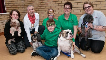 Help4Hounds volunteers and dogs at a fundraising event in Mark.Picture: MARK ATHERTON