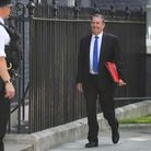 Liam Fox arriving at 10 Downing Street for a cabinet meeting on Monday. Picture: Victoria Jones/PA W
