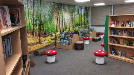 The new library at St Andrews Primary
