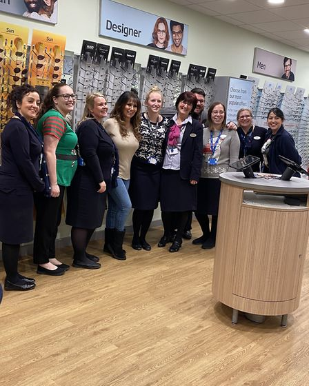 Specsavers welcomed Linda Lusardi to their store, in High Street