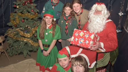 Santa and friends at Winscombe Scout Christmas fair. Picture: MARK ATHERTON