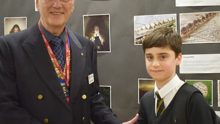 Sidney was awarded for his photographs in the Rotary competition.